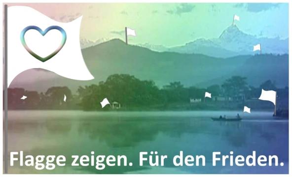 Wir zeigen Flagge für den Frieden. Beteilige Dich kreativ mit einem weissen Friedenssymbol und mache die Aktion weiter bekannt.